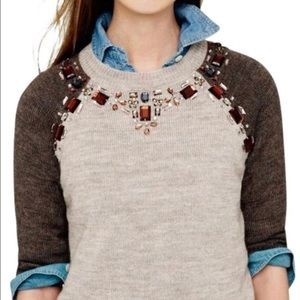 J Crew jeweled embellished sweater